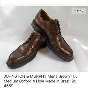 Johnston & Murphy Mens Oxford Shoes Size 11.5